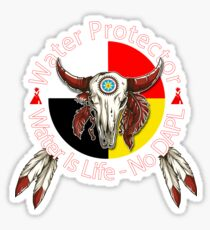 Water Protector Water Is Life - No DAPL Sticker