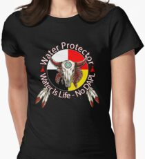 Water Protector Water Is Life - No DAPL Women's Fitted T-Shirt