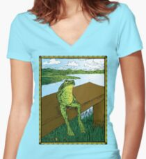 Frog Life Women's Fitted V-Neck T-Shirt