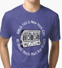 Marly Marl Rap Attack Old School Hip Hop tape [wht] Tri-blend T-Shirt