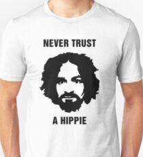 Charlie Manson Never Trust A Hippie T-Shirt
