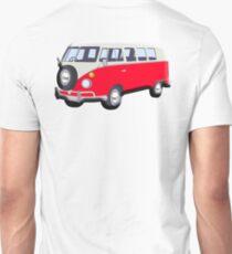 Volkswagen, Van, RED, Camper, Split screen, 1966, Volkswagen, Kombi, North America, VW Bus T-Shirt