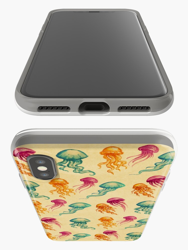 Alternate view of JellyFish, tan iPhone Case & Cover