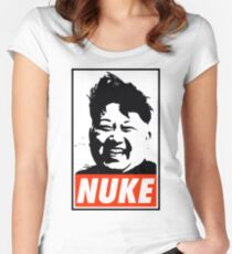 KIM JONG UN NUKE Women's Fitted Scoop T-Shirt