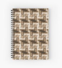 Battery Mishler ladder going nowhere, sepia pattern Spiral Notebook
