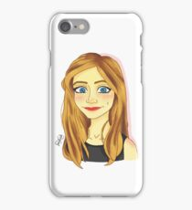 Smiling Blue Eyed Girl  iPhone Case/Skin