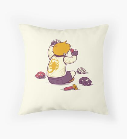 Vroom Vroom Throw Pillow