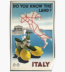 Vintage Travel Poster, Italy Poster