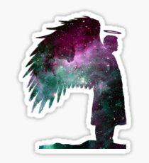 Castiel Sihouette: Space Sticker