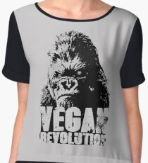 harambe vegan revolution Chiffon Top