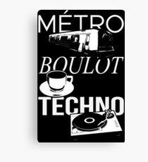 Metro Boulot TECHNO ! Canvas Print