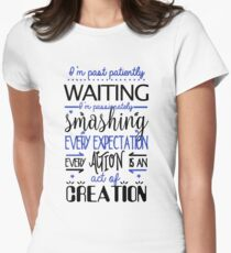 Hamilton Musical Quote. I'm past..Blue. Womens Fitted T-Shirt