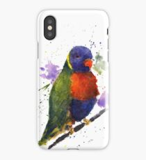 Watercolor Lorikeet at the Pet Store iPhone Case/Skin