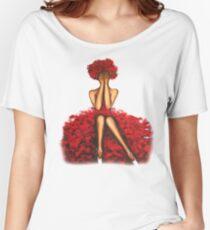 Rose girl Women's Relaxed Fit T-Shirt