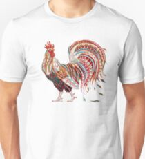 Patterned fiery rooster Unisex T-Shirt