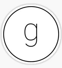 The Material Design Series - Letter G Sticker