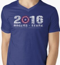 Stark & Rogers: 2016 Men's V-Neck T-Shirt