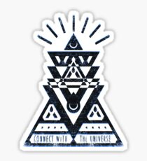 Connect With The Universe 2 - Typography and Geometry Sticker