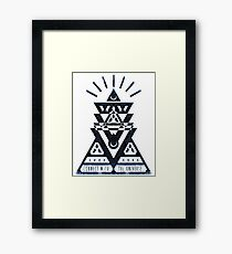 Connect With The Universe 2 - Typography and Geometry Framed Print