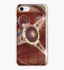 Classic British Sports car interior iPhone Case/Skin