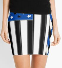 Black White and Blue All Lives Matter American Flag Mini Skirt