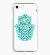 Turquoise Hamsa Hand iPhone Case/Skin