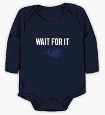 Wait For It - Blue French Horn One Piece - Long Sleeve