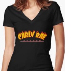 Carly Rae Thrasher Women's Fitted V-Neck T-Shirt