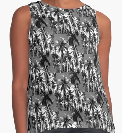Palm Trees in Mono Contrast Tank