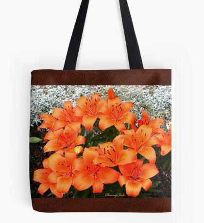Orange Lilies in My Garden Tote Bag