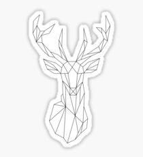 Geometric Deer Sticker