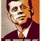JFK Shepard Hope Style Poster (Sunset Hi-Res Textured) by CassAnaya