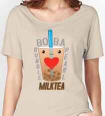 Boba Bubble Pearl Milktea LOVE Women's Relaxed Fit T-Shirt