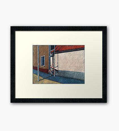 positiver Raum Framed Print
