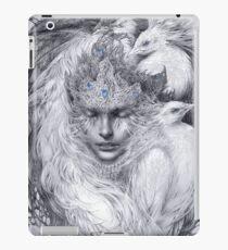Fairy lady with white peacocks. iPad Case/Skin