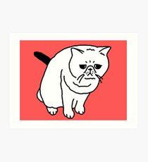Mr Inspector Cat Art Print