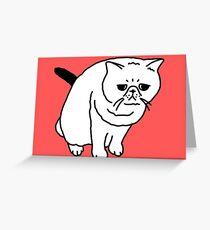 Mr Inspector Cat Greeting Card
