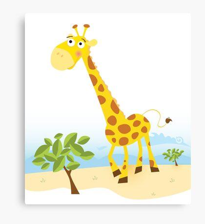 Giraffe. Vector Illustration of funny animal. Canvas Print
