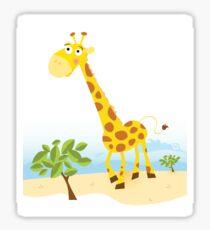 Giraffe. Vector Illustration of funny animal. Sticker