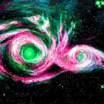 """""""Galaxies Collide"""" by K-DrewJones"""