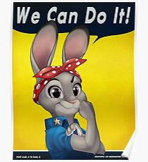 Zootopia - We can do it Judy Hopps Poster