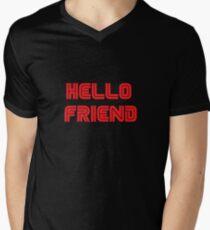 Mr. Robot - Hello friend Men's V-Neck T-Shirt