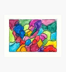 Colored gravel Art Print