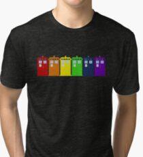 Rainbow Tardis' Tri-blend T-Shirt