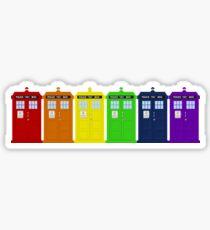Rainbow Tardis' Sticker