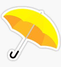Yellow Umbrella Sticker