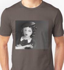 Film Noir Female Character Smoking Cigarette Looking Aside  Unisex T-Shirt