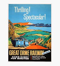 Vintage poster - Great Orme Railway Photographic Print