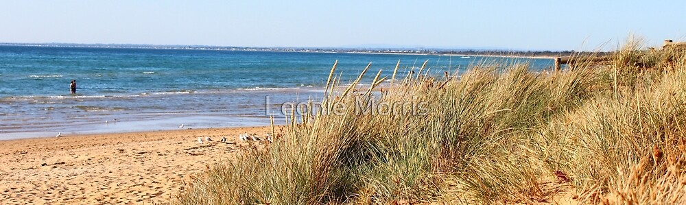 Serenity on the beach by Leonie Morris