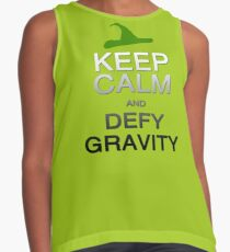 Keep Calm and Defy Gravity Contrast Tank